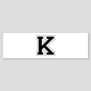 Collegiate Monogram K Bumper Sticker