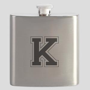 Collegiate Monogram K Flask