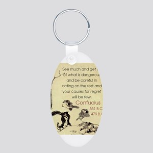 See Much And Get Rid Of - Confucius Keychains