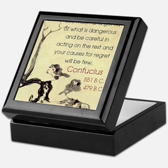 See Much And Get Rid Of - Confucius Keepsake Box
