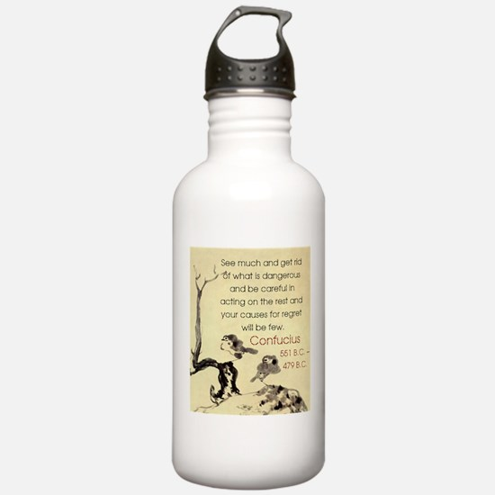 See Much And Get Rid Of - Confucius Water Bottle