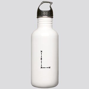Barbed Wire Monogram L Water Bottle
