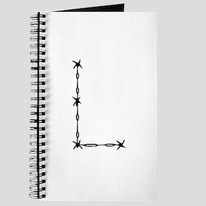 Barbed Wire Monogram L Journal