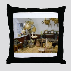 Basket Buying Doll House Room Throw Pillow