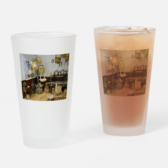 Basket Buying Doll House Room Drinking Glass