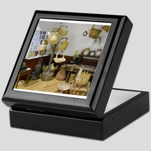 Basket Buying Doll House Room Keepsake Box