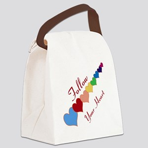 follow your heart Canvas Lunch Bag