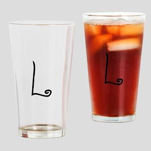 Bizzy Bee Monogram L Drinking Glass