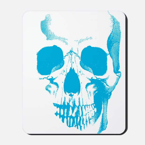 Blue Skull Face Mousepad
