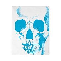 Blue Skull Face Twin Duvet