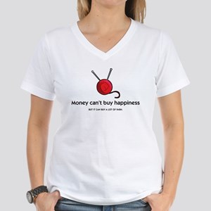 """""""Money Can't Buy Happiness..."""" Cap Sleeve T-Shirt"""
