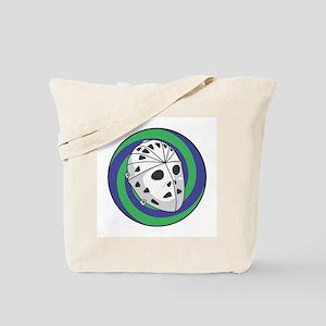 Goalie Mask Circle Design Tote Bag