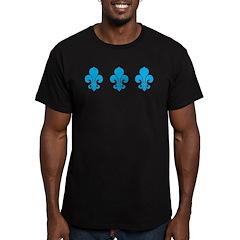 Blue Fleur De Lis Men's Fitted T-Shirt (dark)