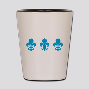 Blue Fleur De Lis Shot Glass