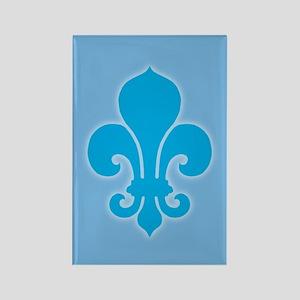Blue Fleur De Lis Rectangle Magnet