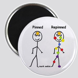 Pinterest Pinned and Repinned Magnet