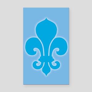 Blue Fleur De Lis Rectangle Car Magnet
