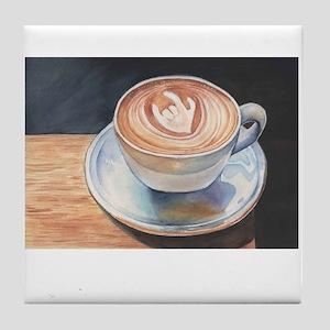 I Love You Coffee #2 Tile Coaster