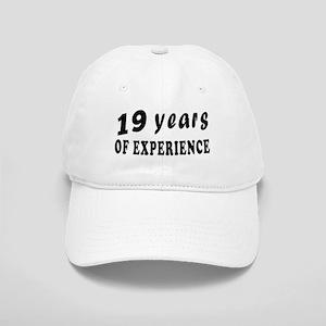19 years birthday designs Cap