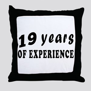 19 years birthday designs Throw Pillow