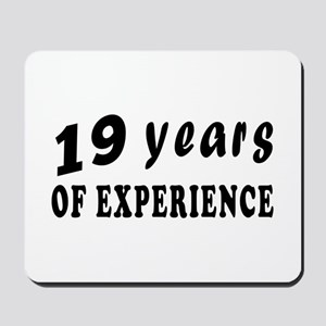 19 years birthday designs Mousepad