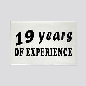 19 years birthday designs Rectangle Magnet
