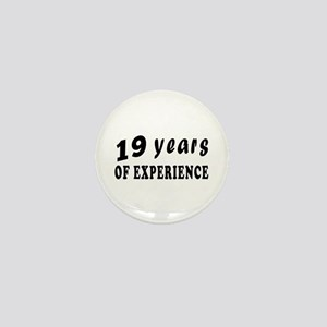 19 Years Birthday Designs Mini Button