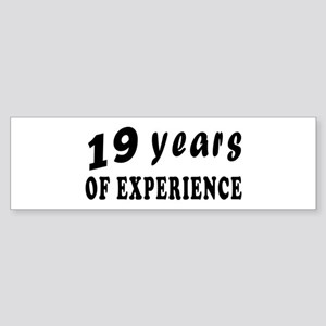 19 years birthday designs Sticker (Bumper)