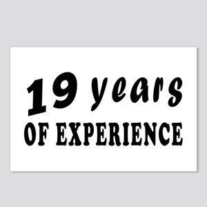19 years birthday designs Postcards (Package of 8)