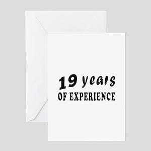 19 years birthday designs Greeting Card