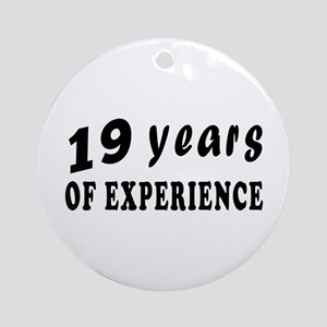 19 years birthday designs Ornament (Round)