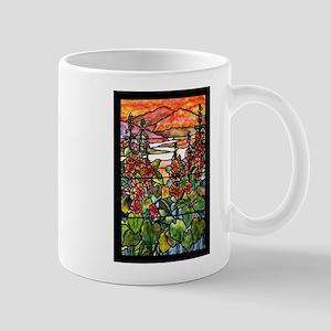 Tiffany Red Hollyhocks in Landscape Mug