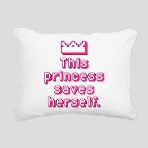 This Princess Saves Herself Rectangular Canvas Pil