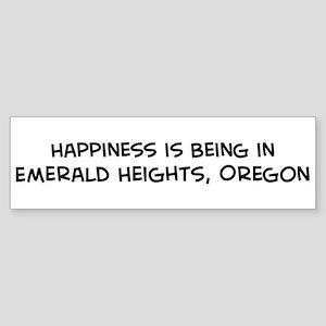 Emerald Heights - Happiness Bumper Sticker