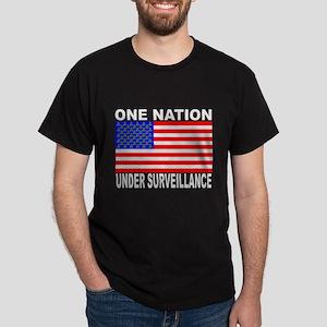 One Nation Under Surveillance Black Tshirt