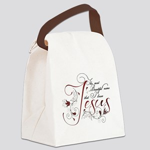 Beautiful name of Jesus Canvas Lunch Bag