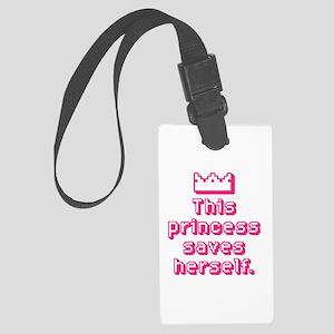 This Princess Saves Herself Luggage Tag