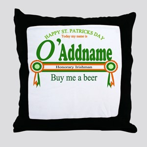 St Patricks Day Buy Beer Throw Pillow