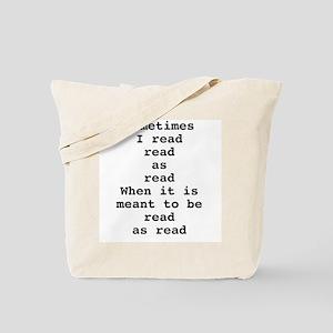 Read read as read Tote Bag