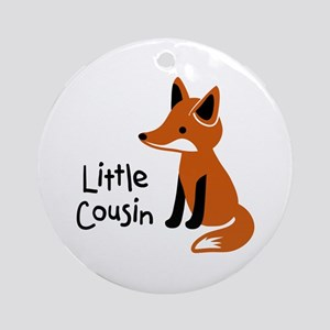 Little Cousin - Mod Fox Ornament (Round)