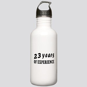 23 years birthday designs Stainless Water Bottle 1