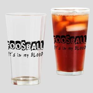 Foosball Designs Drinking Glass