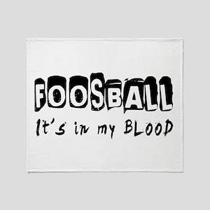 Foosball Designs Throw Blanket