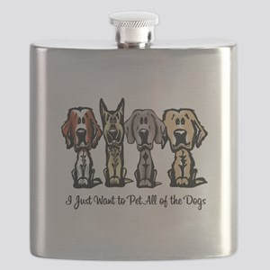 I Just Want to Pet All of the Dogs Flask
