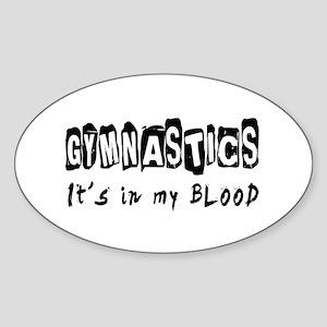 Gymnastics Designs Sticker (Oval)