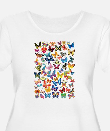 Butterflies Plus Size T-Shirt