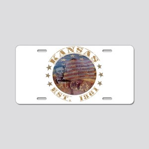 Kansas EST 1861 Aluminum License Plate