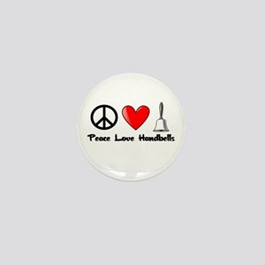 Peace, Love, Handbells Mini Button