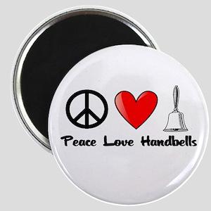 Peace, Love, Handbells Magnet