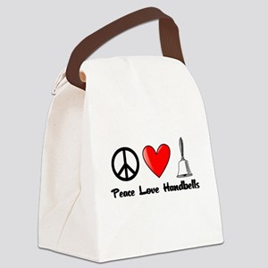 Peace, Love, Handbells Canvas Lunch Bag